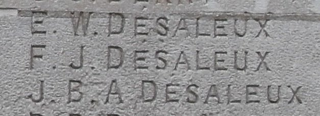 listing of desaleux brothers on stockwell war memorial