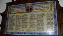 St Andrew's tiled War Memorial in Landor Road, South London